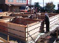 9.基礎立上りコンクリート打設工事